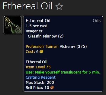 Ethereal Oil from Alchemy Trainer