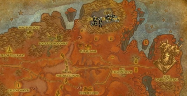Incandescent Fel Spark in Hellfire Peninsula for Motes of Fire