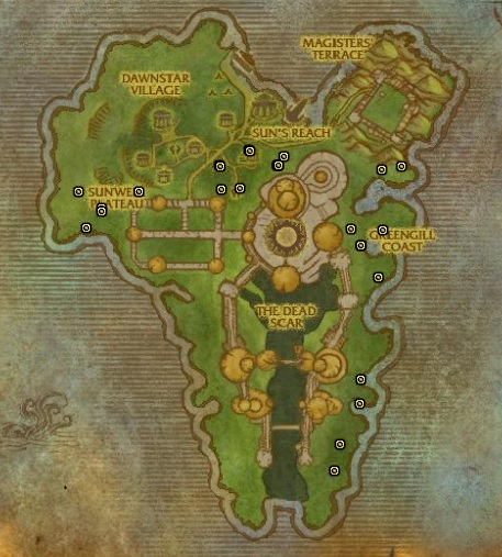 Isle of Quel'Danas for Mana Thistle