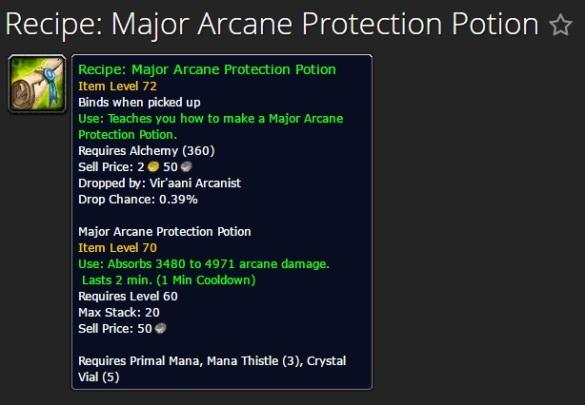 Major Arcane Protection Potion