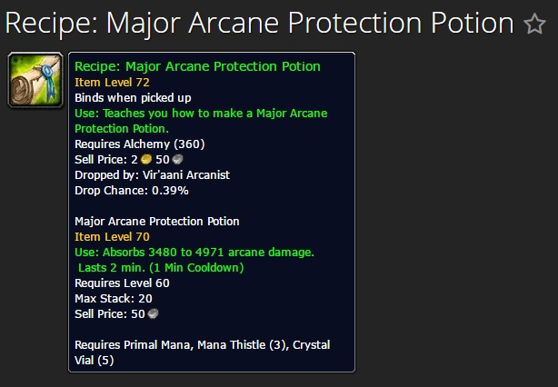 Major Arcane Protection Potion