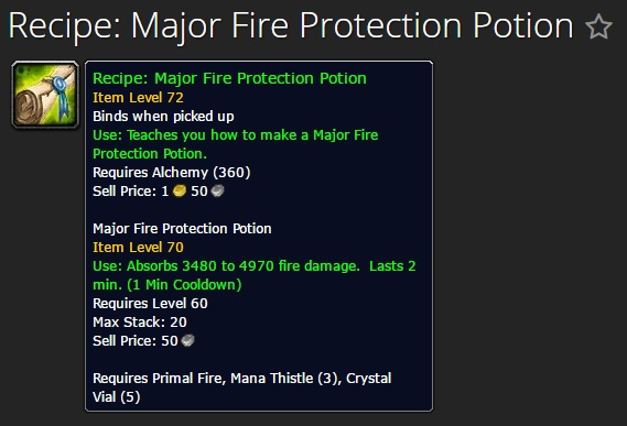 Major Fire Protection Potion