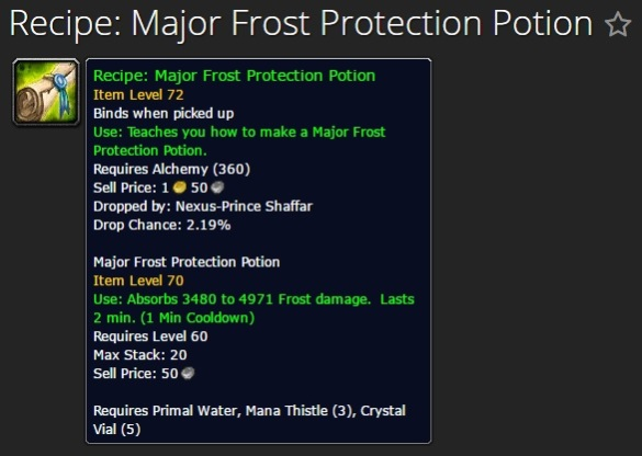 Major Frost Protection Potion