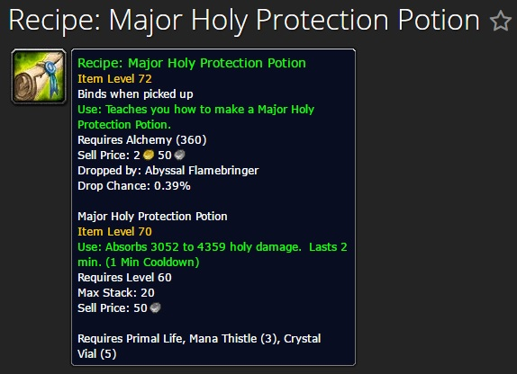 Major Holy Protection Potion