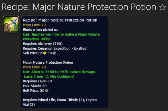 Major Nature Protection Potion