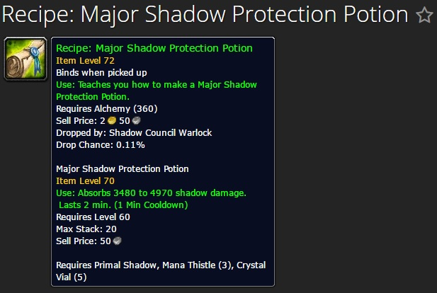 Major Shadow Protection Potion