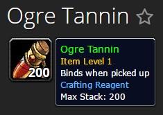 Ogre Tannin for Ogre Suit