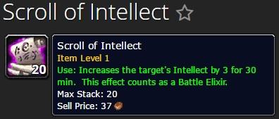 Scroll of Intellect lvl 1