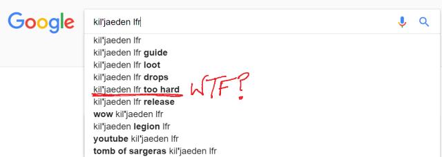 Kiljaeden google search