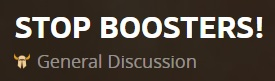 stop boosters